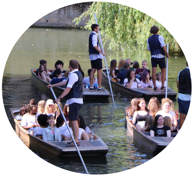 Lets go punting Cambridge