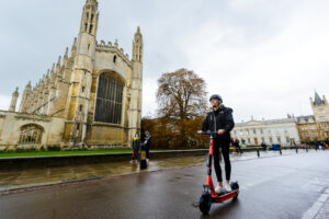 Voi electric Scooter in Cambridge